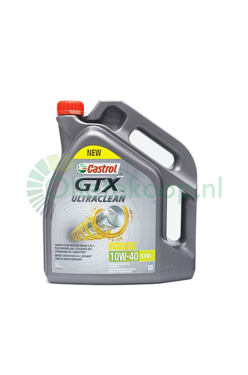 Castrol GTX Ultraclean 10W40 A3/B4 - Motorolie - 5 Liter