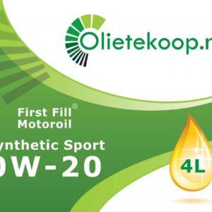 First Fill Synthetic Sport 0W-20 - Motorolie - 4 Liter