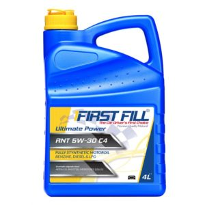 First Fill Ultimate Power RNT (Fully Synthetic) Motorolie - 5W30 C4 - 4 liter