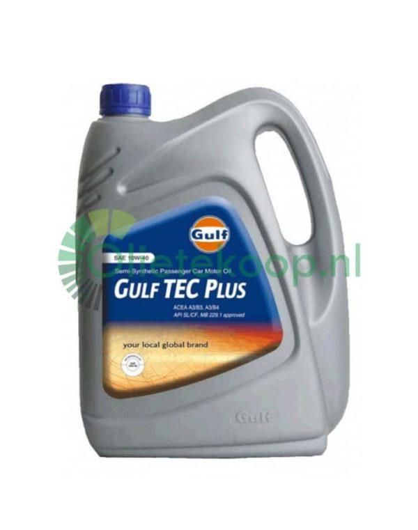 Gulf Tec Plus 10W40 A3/B4 (€3,49/liter) - Motorolie - 4 Liter