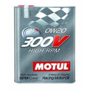 Motul 300V HIGH RPM 0W20 - Motorolie - 2 Liter