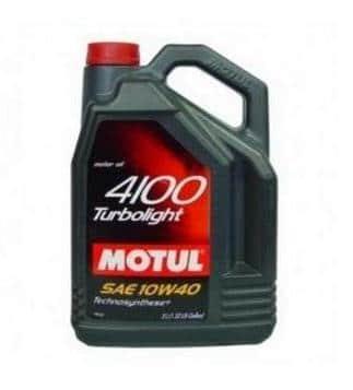 Motul 4100 Turbolight 10W40 - Motorolie - 5 Liter