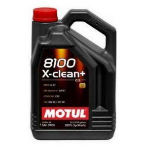 Motul 8100 Xclean+ 5W30 - Motorolie - 5 Liter