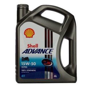 Shell Advance Ultra 4 15W50 - Motorolie - 4 Liter
