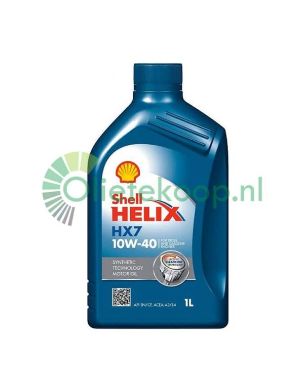 Shell Helix HX7 (voorheen Helix Plus)- 0W40 - 1 Liter
