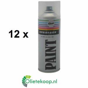 Sprayson Blanke Lak (€ 1.99 / stuk) - Spuitverf (12 x 400mL)