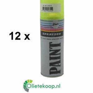 Sprayson Fluor Geel (€ 3.99/stuk) - Spuitverf - 12 x 400ml