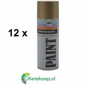 Sprayson Goud (€1.99/stuk) - Spuitlak - 12 x 400mL