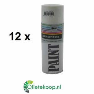 Sprayson Wit Hoogglans RAL 9010 (€ 1.99 / stuk) - Spuitverf - 12 x 400mL