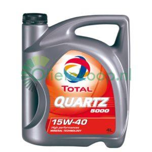 TOTAL Quartz 5000 15W40 - Motorolie - 5 Liter