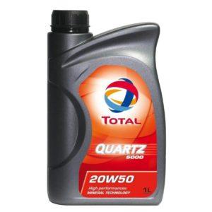 TOTAL Quartz 5000 20W50 - Motorolie - 1 Liter