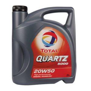 TOTAL Quartz 5000 20W50 - Motorolie - 4 Liter