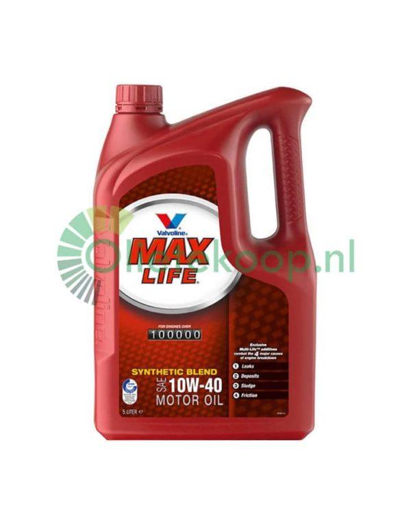 Valvoline Maxlife 10W40 - Motorolie - 5 Liter
