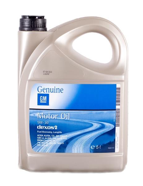 Opel GM 5W-30 Dexos 2 Longlife - 5 liter
