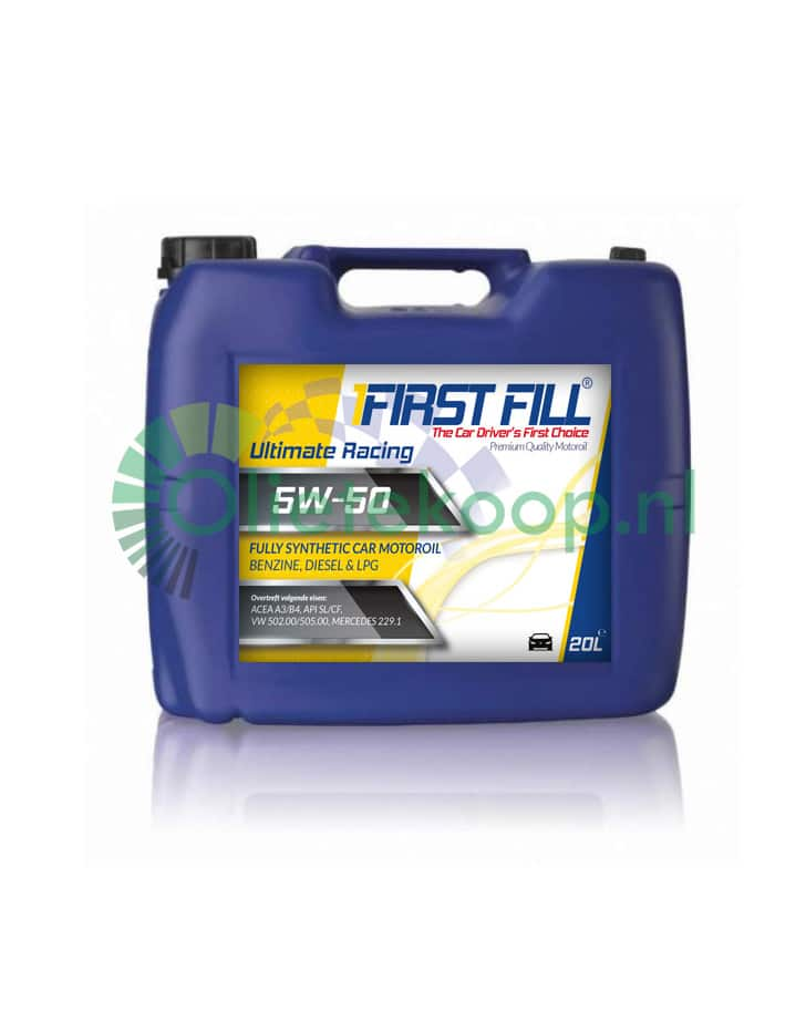 First Fill Ultimate Racing (Fully Synthetic) - 5W50 - 20 Liter