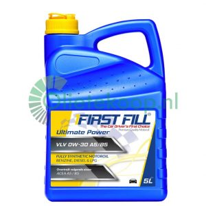5 liter First Fill Ultimate Power VLV 0W30 A5/B5