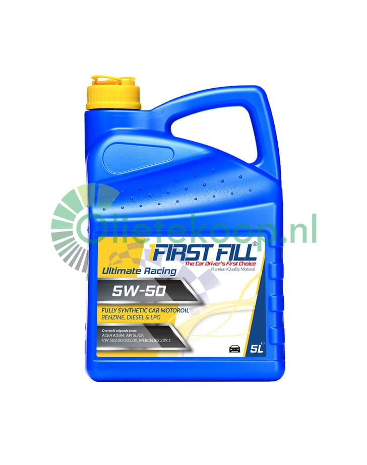 First Fill Ultimate Racing (Fully Synthetic) Motorolie - 5W50 - 5 Liter
