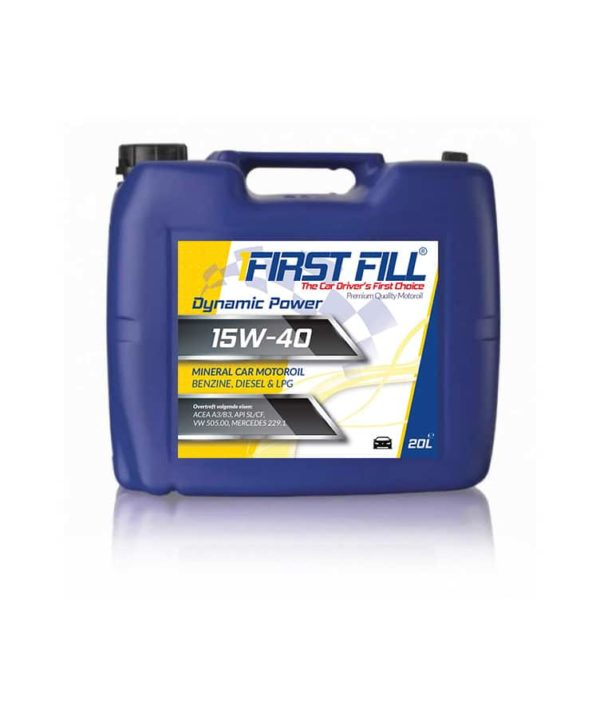 First Fill Dynamic Power Motorolie - 15W40 - 20 liter