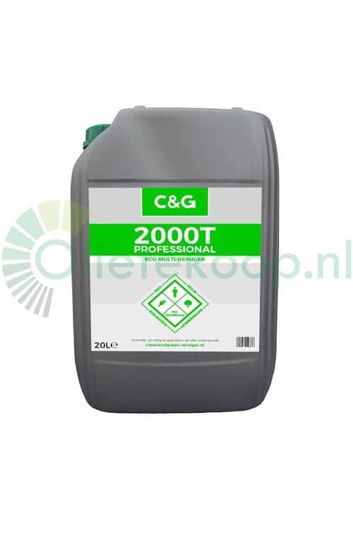 Clean and Green C&G 2000T Professional Eco Multireiniger & Ammoniakvervanger - 20 Liter