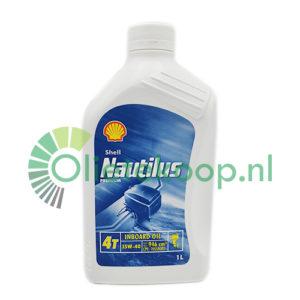 Achterkant van Shell Nautilus 4T 15W-40 Inboard Oil - 1 Liter