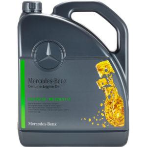 Mercedes Genuine Motorolie (MB 228.51 LT) 5W-30 - 5 Liter